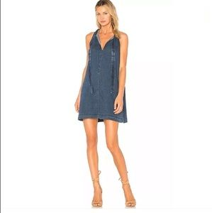 Rails Denim Tie Neck Dress